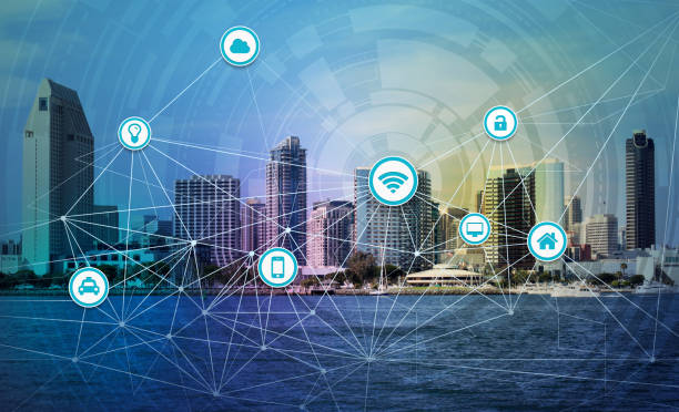 Smart city concept stock photo