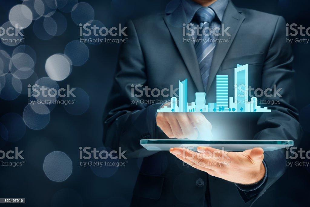 Smart (intelligente) City-Konzept – Foto