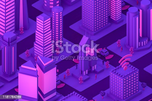 1141355850istockphoto 3D Smart City, Driverless, Connected Car Concept 1181784289