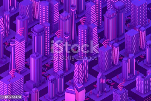 1141355850istockphoto 3D Smart City, Driverless, Connected Car Concept 1181784473