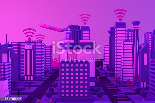 1141355850istockphoto 3D Smart City, Driverless, Connected Car Concept 1181785016
