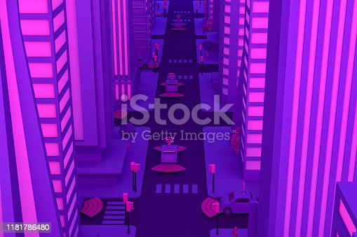 1141355850istockphoto 3D Smart City, Driverless, Connected Car Concept 1181786480