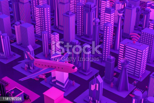 1141355850istockphoto 3D Smart City, Driverless, Connected Car Concept 1181787224