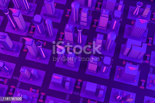 1141355850istockphoto 3D Smart City, Driverless, Connected Car Concept 1181787320