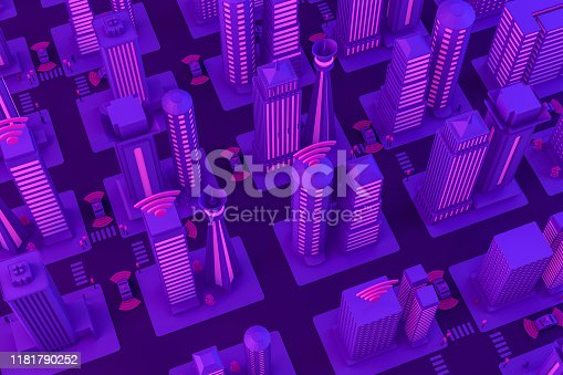 1141355850istockphoto 3D Smart City, Driverless, Connected Car Concept 1181790252