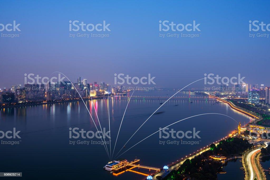 smart city icon stock photo
