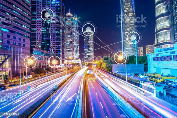 Smart City In Urban Stock Photo - Download Image Now