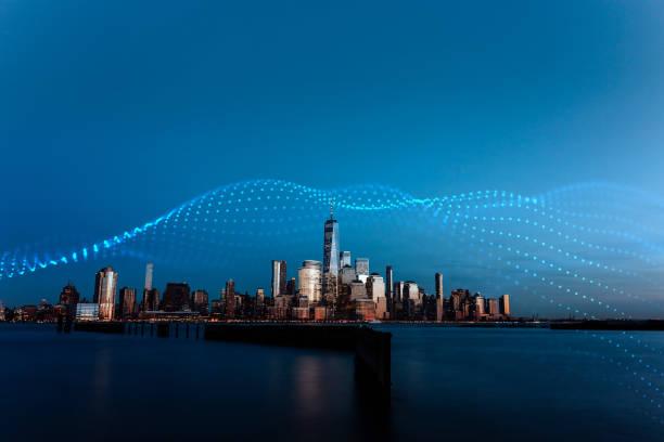 Smart City Manhattan Financial Center stock photo
