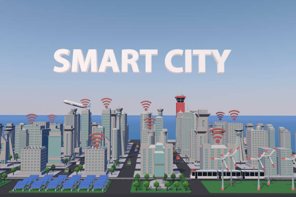 smart city - smart city stock photos and pictures