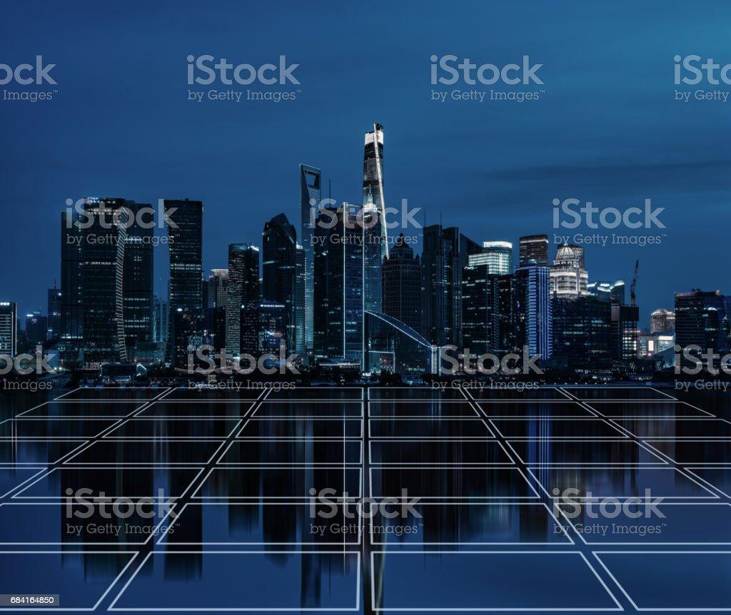 Smart City Square royalty-free stock photo