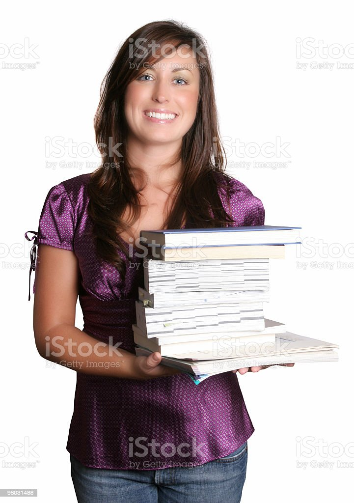 Smart college student royalty-free stock photo
