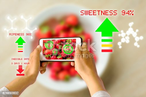 istock Smart Device Augmented Reality Food Ripeness Checking 826693832