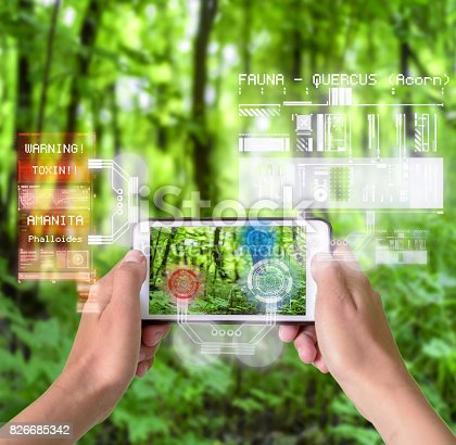 istock Smart Device Augmented Reality in Nature 826685342
