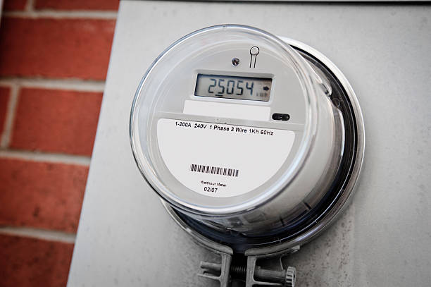 smart energie meter - messgerät stock-fotos und bilder