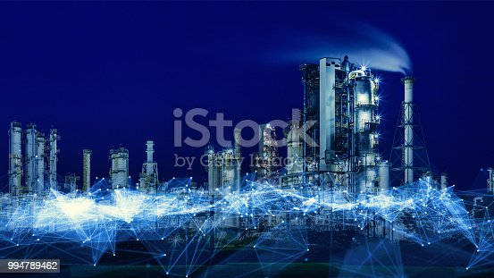 Smart factory concept. Communication network. INDUSTRY4.0