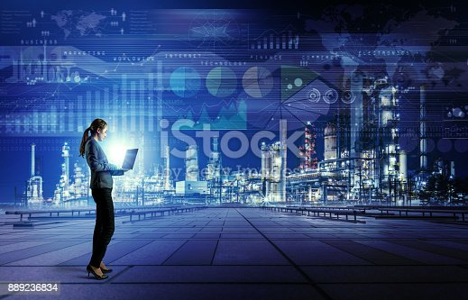 istock Smart factory concept. Internet of Things. Information Communication Technology. 889236834