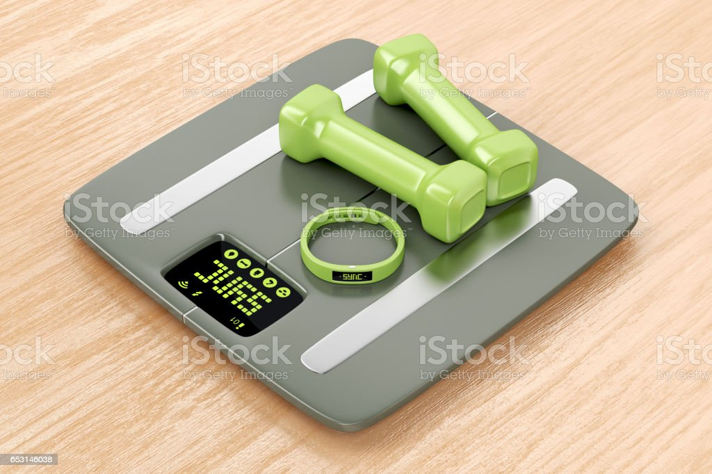 Smart fitness devices stock photo