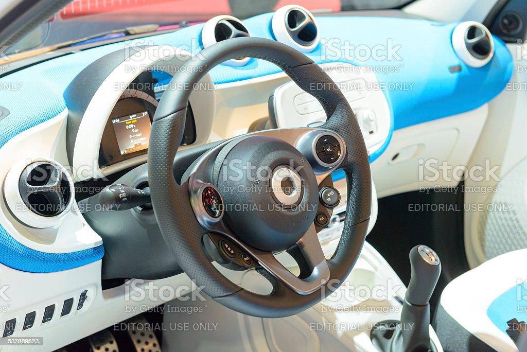 Smart ForFour city car interior stock photo