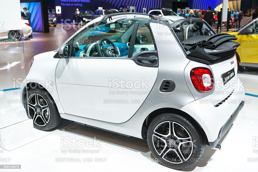 Smart ForTwo Cabrio compact city car stock photo