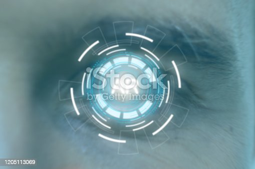 1150202730 istock photo smart glasses futuristic technology concept, man wear smart glasses an augmented mixed virtual reality with artificial intelligence combine deep, machine learning, digital twin, 5G, industry 4.0 tech 1205113069