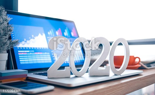 istock 2020, smart goal concepts with mock up text number on computer laptop on desk table and window office background 1172394341