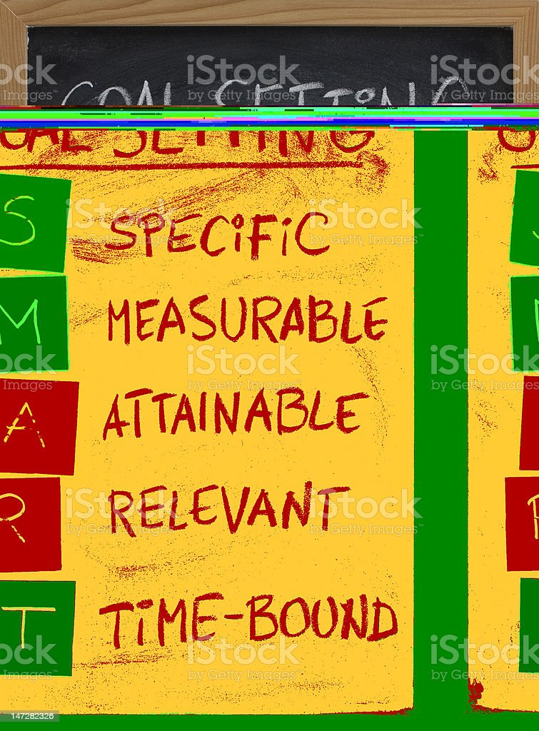 smart goal setting concept stock photo