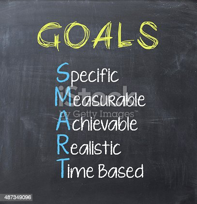 istock Smart goals on blackboard 487349096