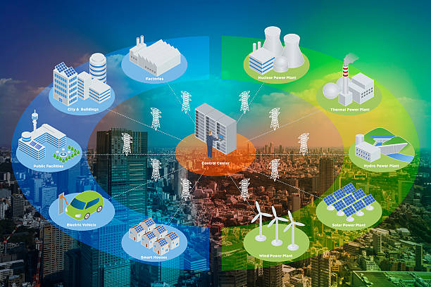 Smart Grid conceptual abstract stock photo