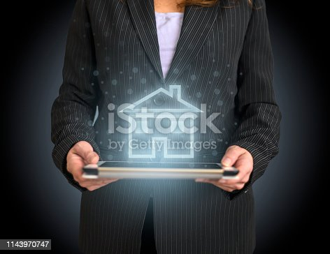 istock Smart home and AI concept 1143970747