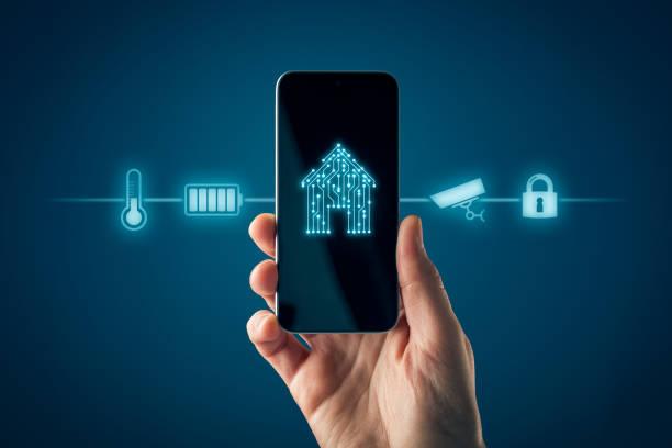 Smart Home App auf dem Smartphone – Foto