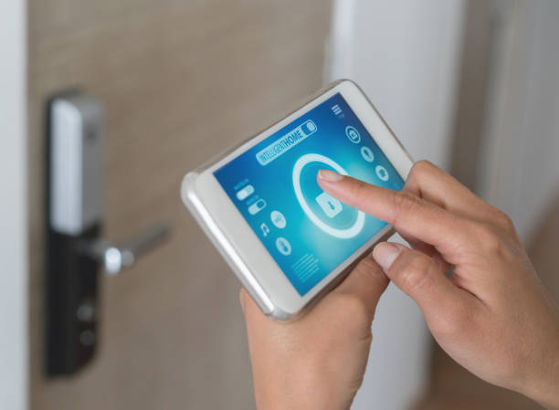 Smart home app stock photo