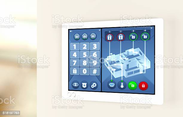 Smart Home Automation House Alarm Security System Stock Photo Download Image Now Istock