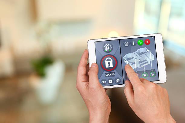 Smart home Automatisierungen: Abschließen Haus Tür mit Sicherheit Fernbedienung – Foto