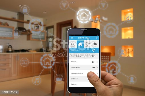 Smart home automation mobile phone application internet technology