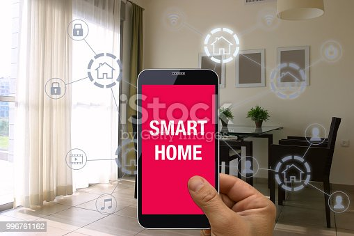 1158812288istockphoto Smart home automation mobile phone control security technology 996761162