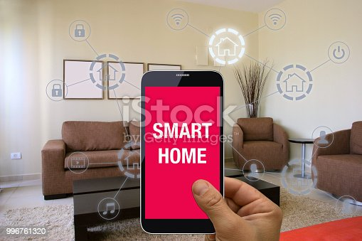 1158812288istockphoto Smart home automation mobile phone control security technology 996761320
