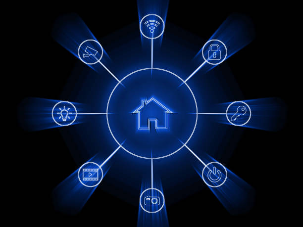 Smart home automation network application internet technology Smart home automation network application internet technology augmented reality sustainable stock pictures, royalty-free photos & images