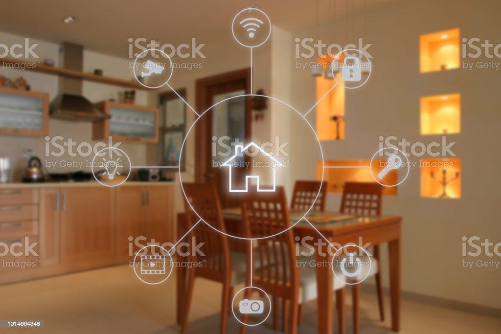 Smart home-Automation-Remote Control-Internet-Technologie – Foto