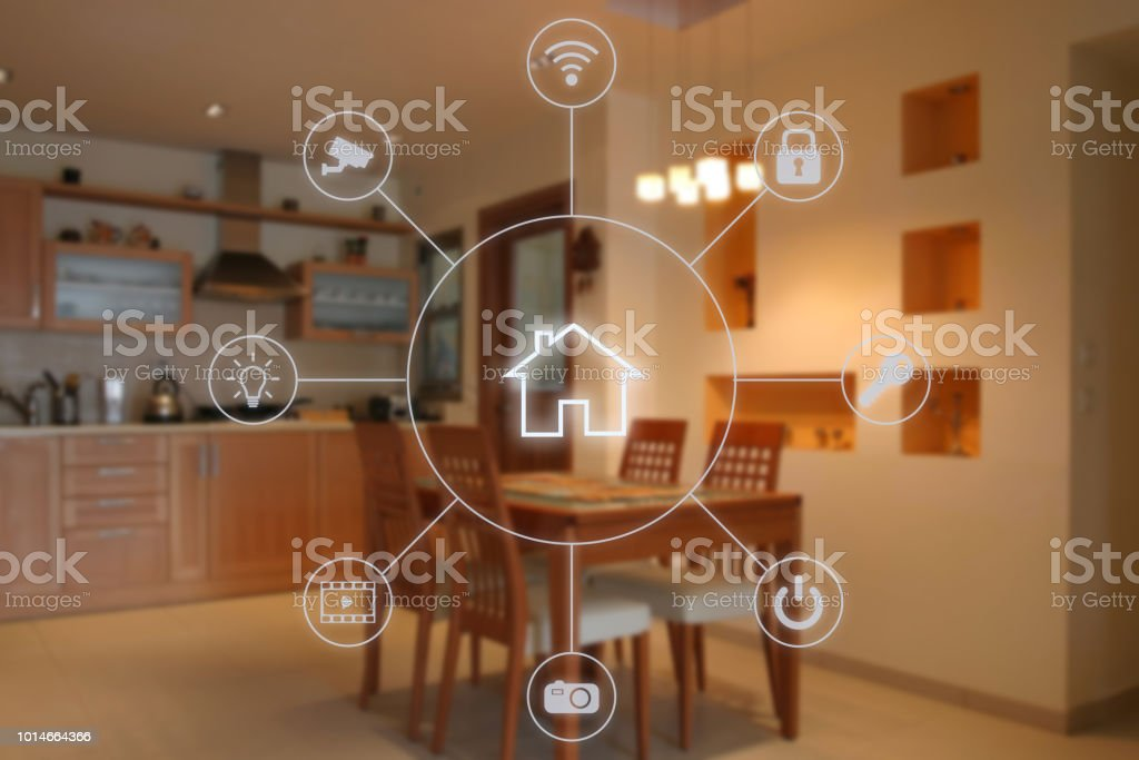 Smart home-Automation-Remote Control-Internet-Technologie – Foto