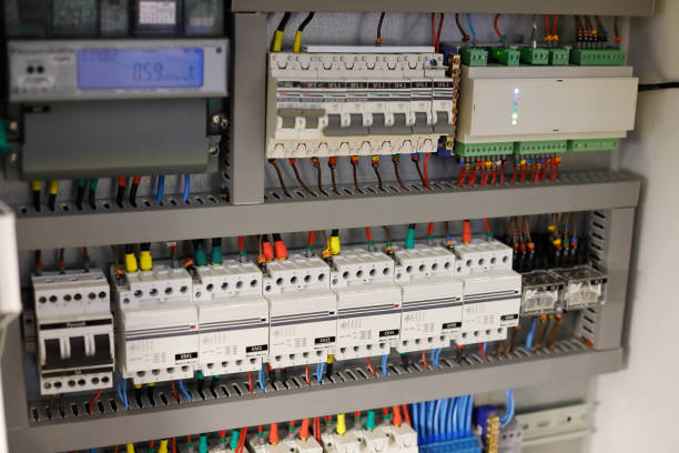 smart home automation system - fuse box stock photos and pictures