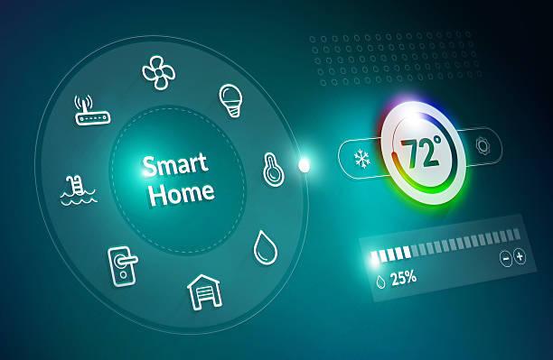 Smart Home Control Dashboard stock photo