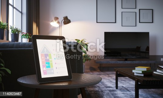 1158812288istockphoto Smart Home Control In Scandinavian Home Interior 1140523467