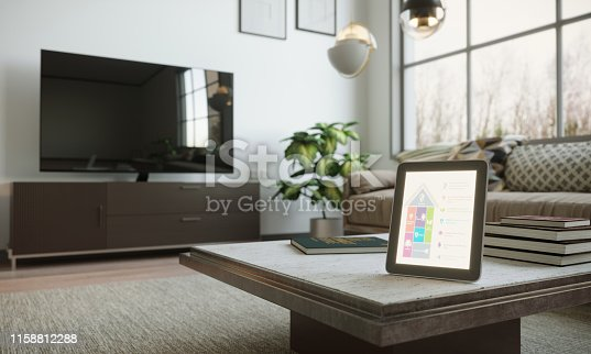 1158812288istockphoto Smart Home Control In Scandinavian Home Interior 1158812288