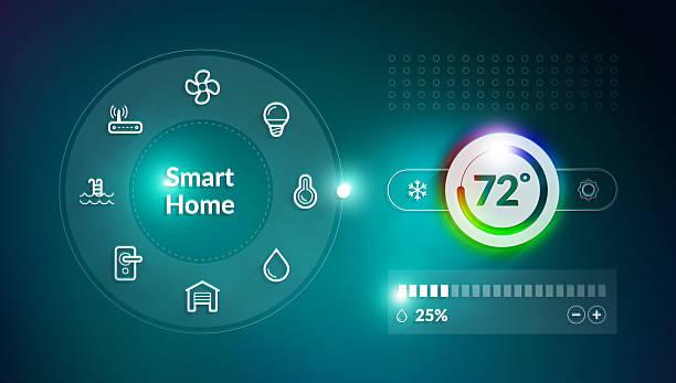 Smart Home Control Panel stock photo
