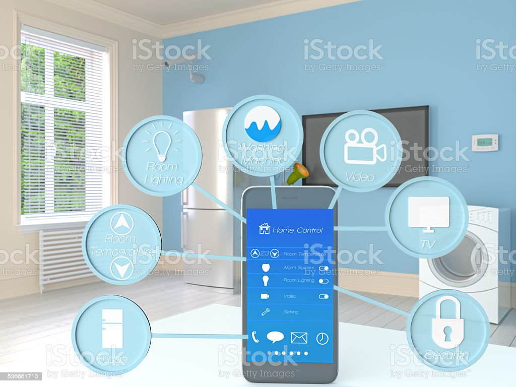 Smart Home Control stock photo