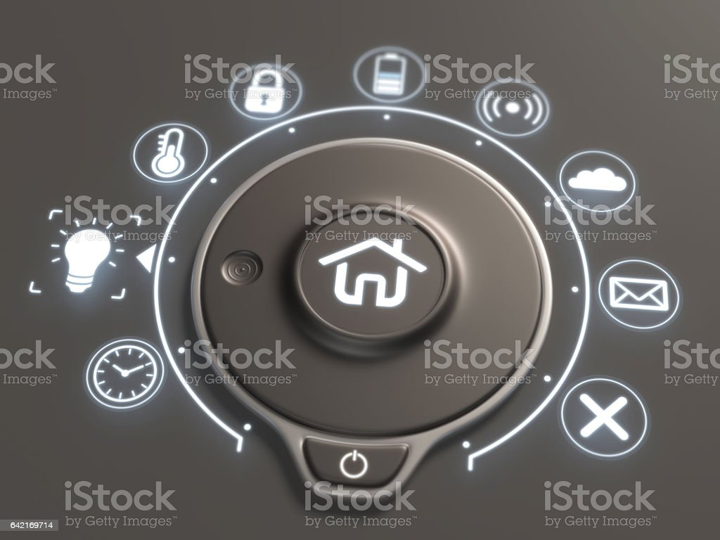 Smart home control - Foto stock royalty-free di Affari finanza e industria