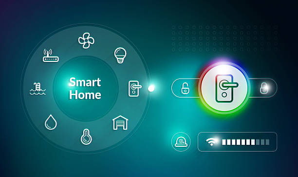 Smart Home Control System stock photo