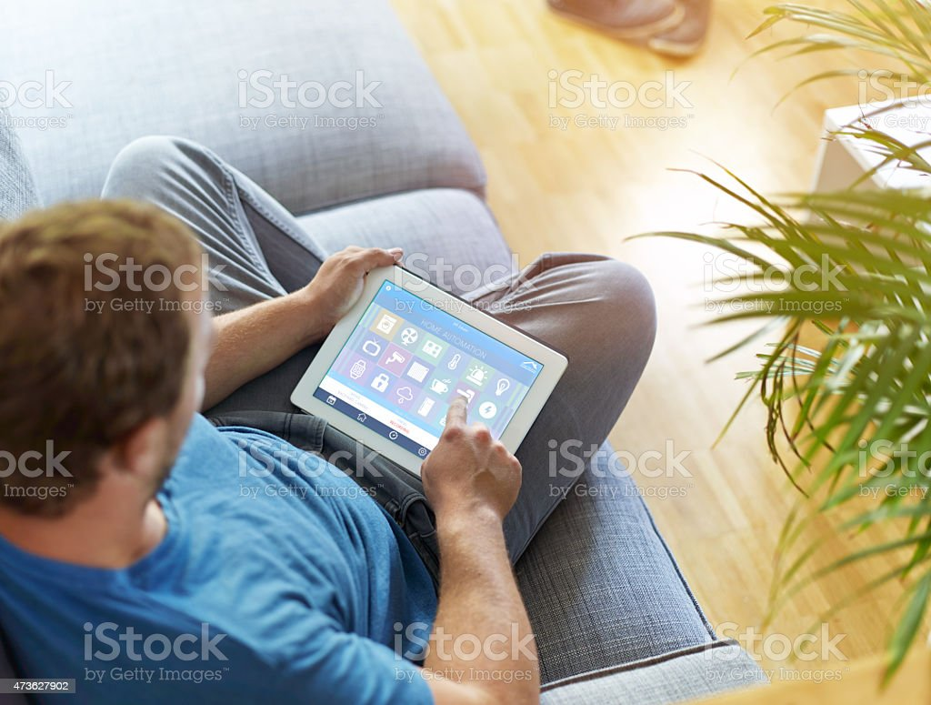 Smart Home Device - Home Control royalty-free stock photo