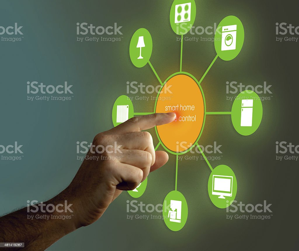 Smart Home Device - Home Control - Royalty-free Abstract Stock Photo
