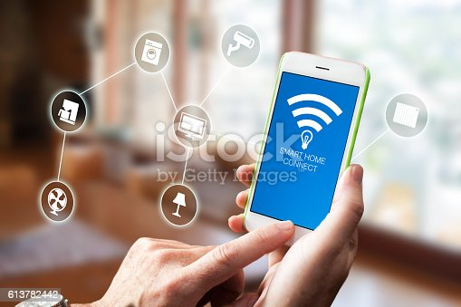 istock Smart Home Device - Home Control 613782442